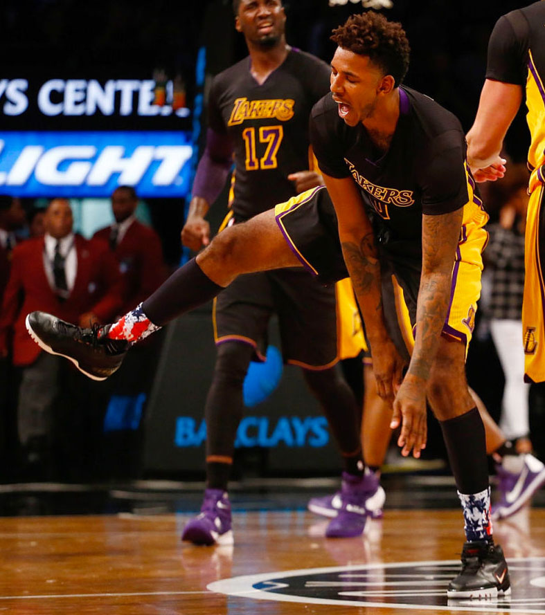 1d545d9383b996 SoleWatch  Nick Young Played the Soles Off LeBron s First Signature ...