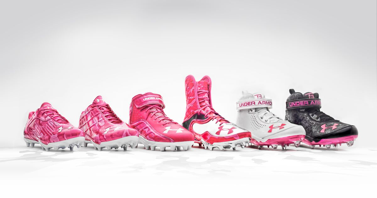 Under Armour Power In Pink Cleats For Breast Cancer Awareness Sole