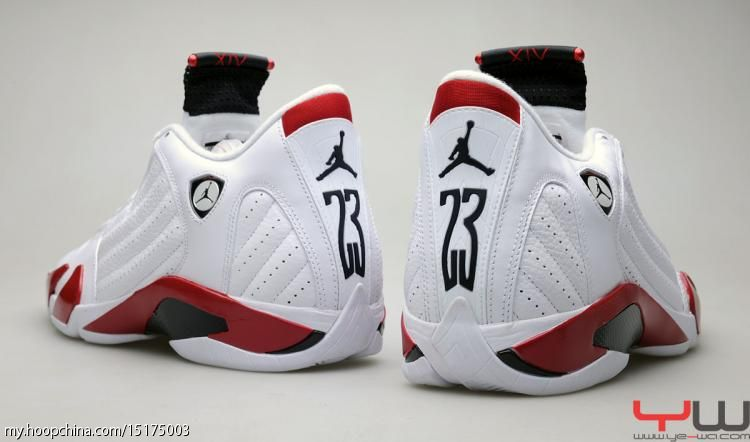 Air Jordan 14 XIV Retro White Varsity Red Black 487471-101 4