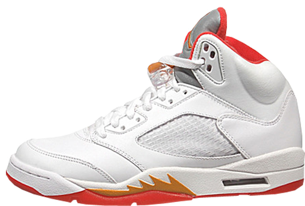 8d14b58fc276 This Women s Air Jordan 5 Retro was originally designed to match the  Bobcats team colors at the time. The original sample version featured a  white-based ...