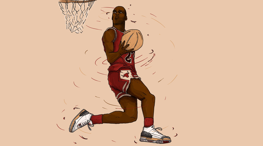 An Illustrated Look at the Slam Dunk Contests Greatest Moments