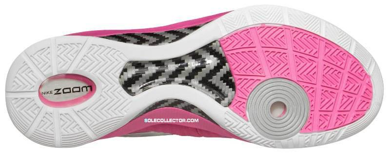 brand new 9afa0 7ba10 Nike Zoom Hyperdunk 2011 Kay Yow Pinkfire White Metallic Silver 454138-602