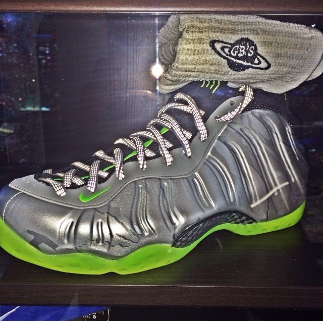 Jim Jones Picks Up Nike Air Foamposite One Silver Camo