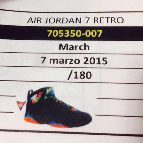 Air Jordan VII 7 Marvin the Martian 705350-007