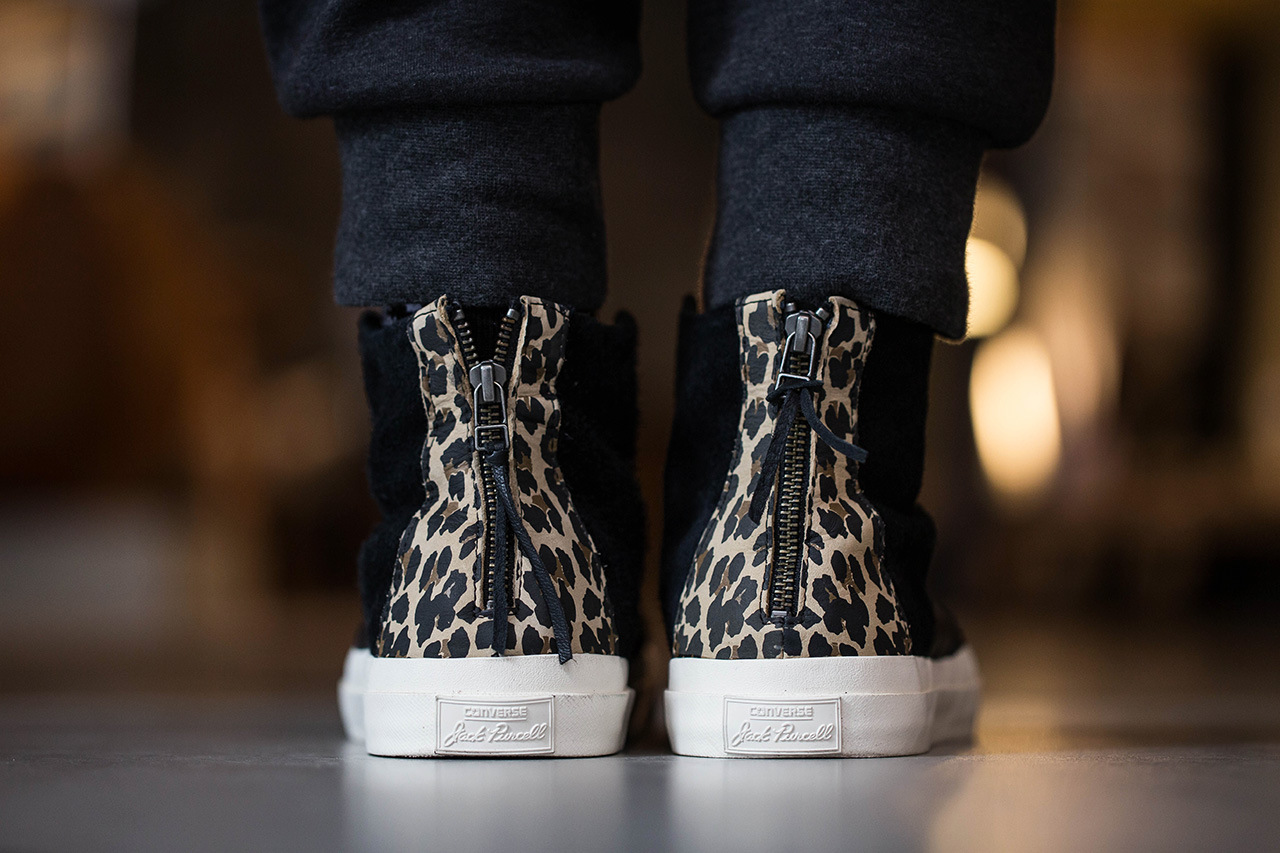 INVINCIBLE x Converse First String Johnny Hi leopard zip heel