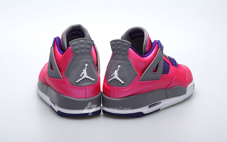 Air Jordan 4 Retro GS Pink Purple Grey 487724-607 (4)