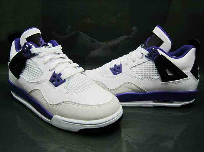 Air Jordan IV 4 GS White Ultraviolet Black 487724-108 (3)