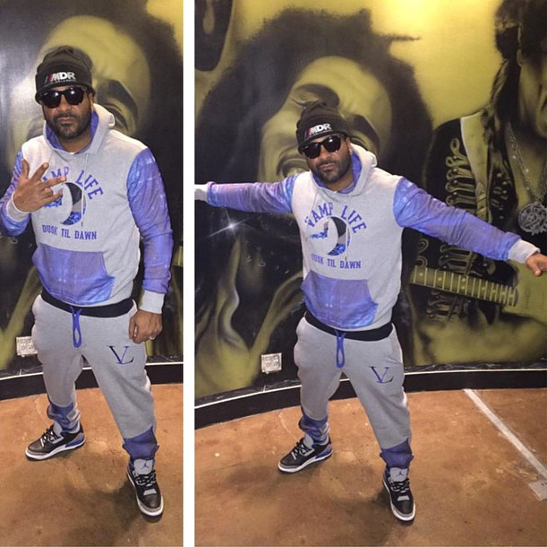 Jim Jones wearing Air Jordan III 3 Sport Blue