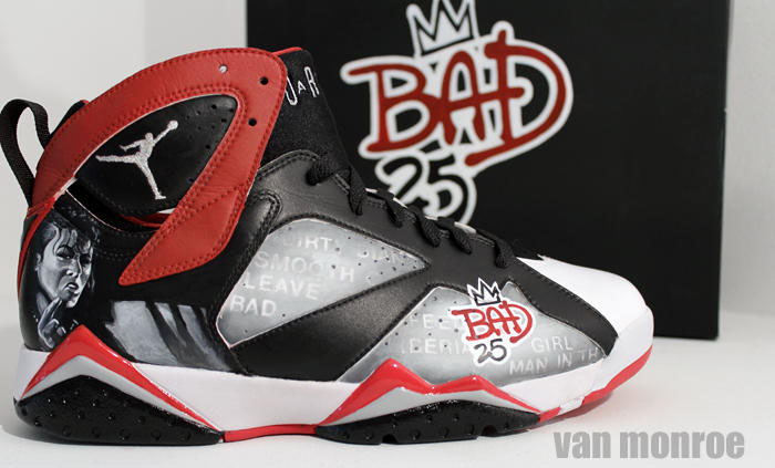 Air Jordan 7 Bad 25 by Van Monroe for Spike Lee (1)