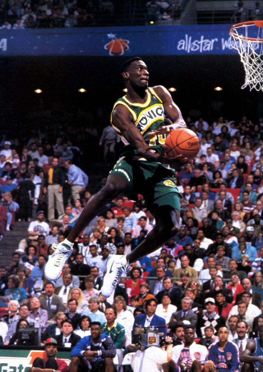 Shawn Kemp's Slam Dunk Contest Sneaker History | Sole ...