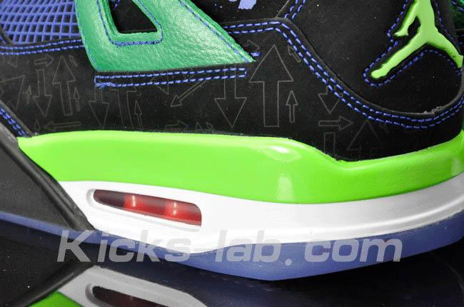 separation shoes 47ceb 26435 Air Jordan 4 IV Doernbecher Superman Black Old Royal Electric Green White  308497-015 C