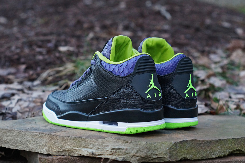 Air Jordan 3 Shark + Python + Kangaroo 'Joker' by JBF Customs (5)