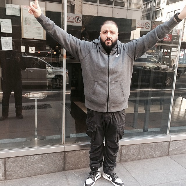 DJ Khaled wearing Air Jordan I 1 Barons