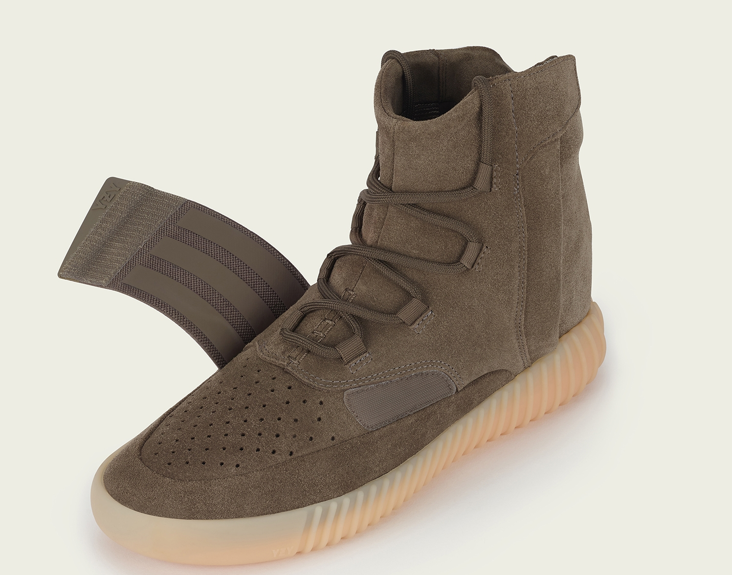 0ec56e0d19c8 Image via Nikelab.jp · Adidas Yeezy 750 Boost Chocolate BY2456 Unstrapped