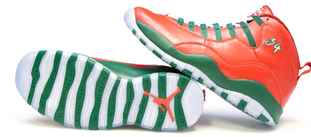 Air Jordan 10 Ray Allen Christmas PE (1)