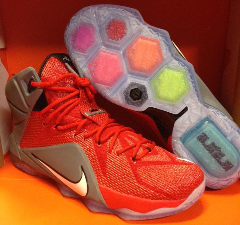 9303138ae083 Nike LeBron 12 PE for the Ohio State Buckeyes