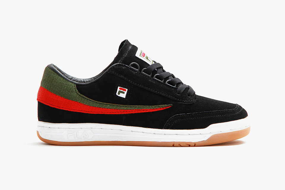 Cncpts x FILA Original Tennis in Black Suede