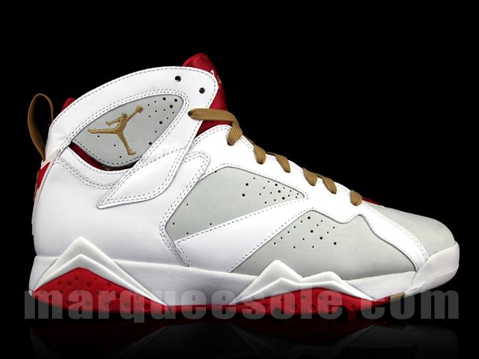 best authentic d9219 ab5eb Air Jordan Retro 7 Light Silver Metallic Gold White True Red Year of the Rabbit  459873