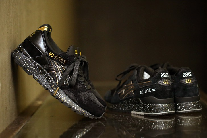 atmos x asics gel lyte v black and gold