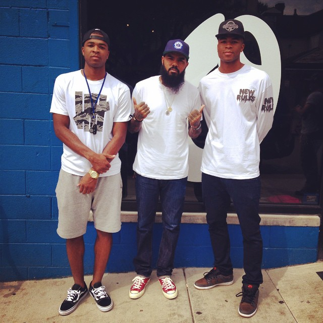 Stalley wearing Converse Chuck Taylor All Star Red