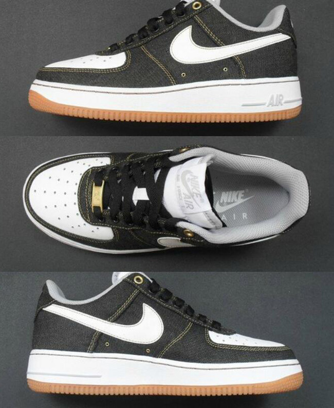 Black Denim Takes Over The Nike Air Force 1 Low | Sole Collector