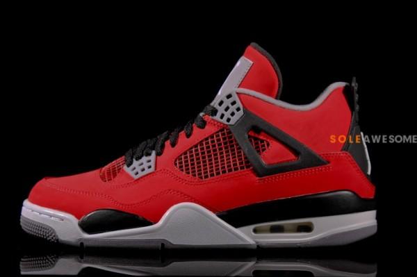 Air Jordan 4 Retro - Fire Red/White
