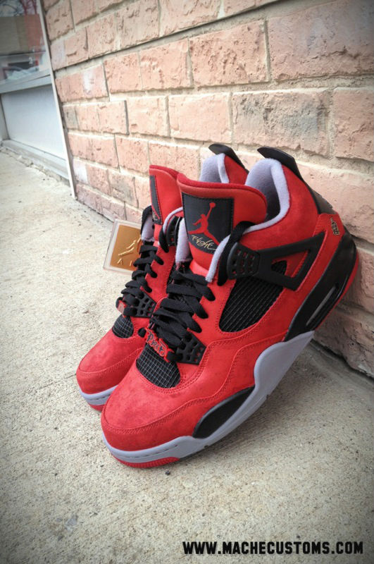 Air Jordan IV 4 Jesus Piece for The Game by Mache Custom Kicks (6)