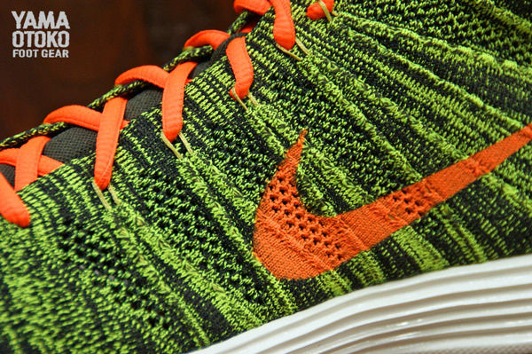 Nike Lunar Flyknit Chukka sequoia total orange swoosh