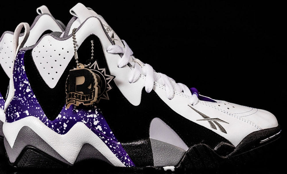 Reebok Kamikaze II Mid White/Black-Grey-Purple
