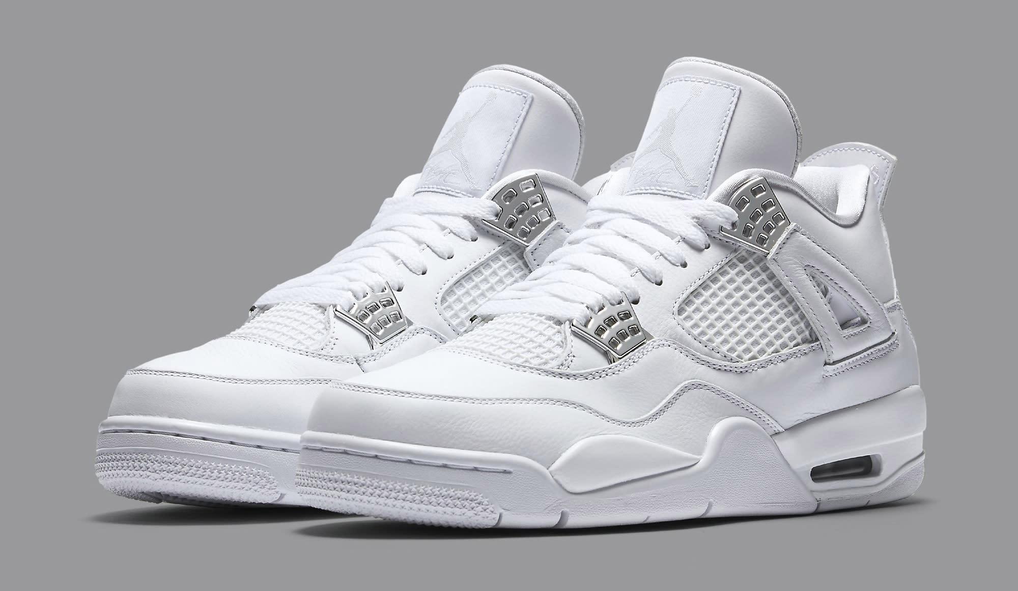 Air 4 Retro Pure Money Men Lifestyle Sneakers New White - 11 5fsbRLCErc