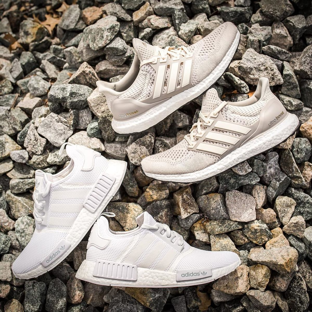 on sale 99481 0413c White Adidas NMD Cream Ultra Boost Restock  Sole Collector