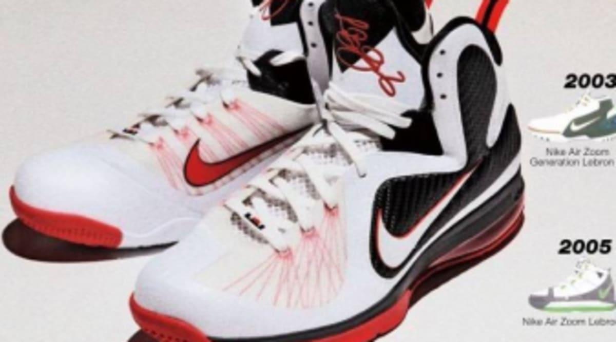 buy online 741d6 9f614 Nike LeBron 9 - White Black-Sport Red