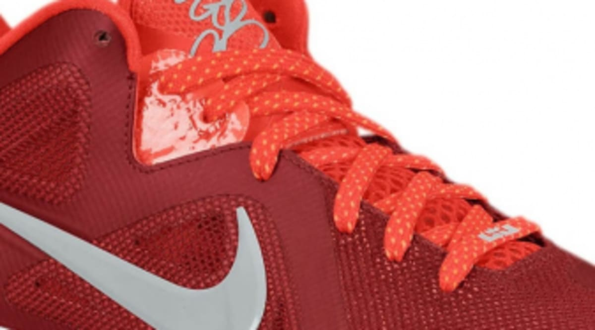 separation shoes 3c6b0 e934c Nike LeBron 9 Low - Team Red Challenge Red-Wolf Grey   Sole Collector