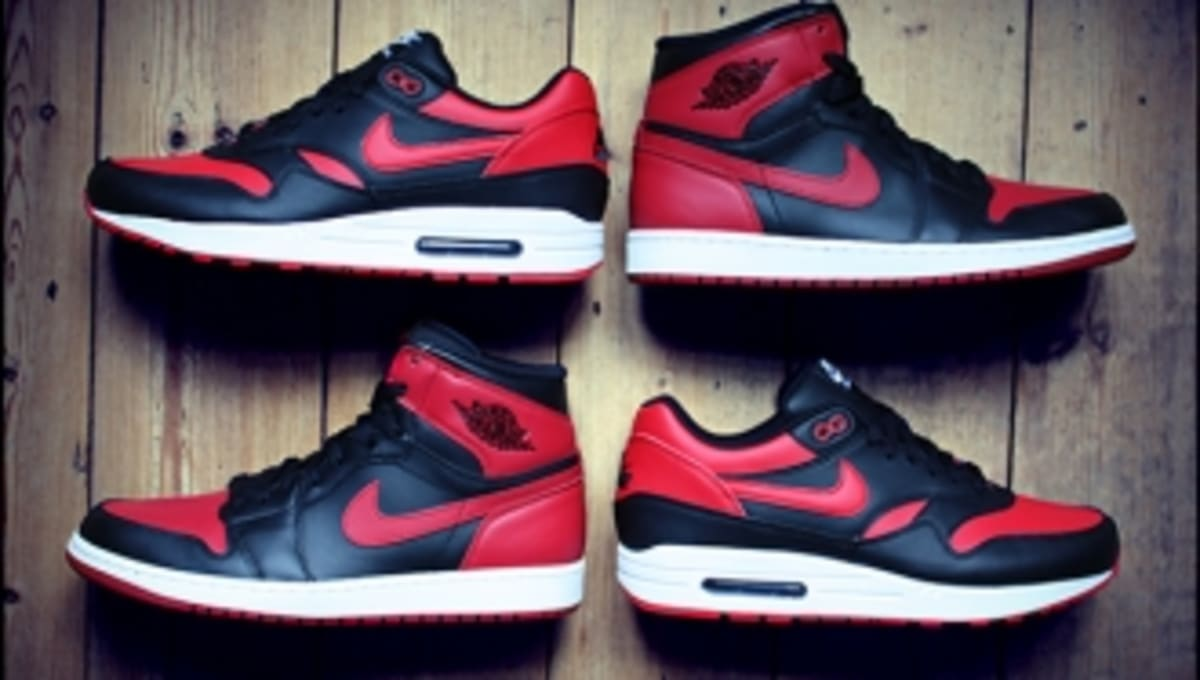 """These """"Banned"""" Jordan 1-inspired Air Max 1 iDs Are Awesome"""