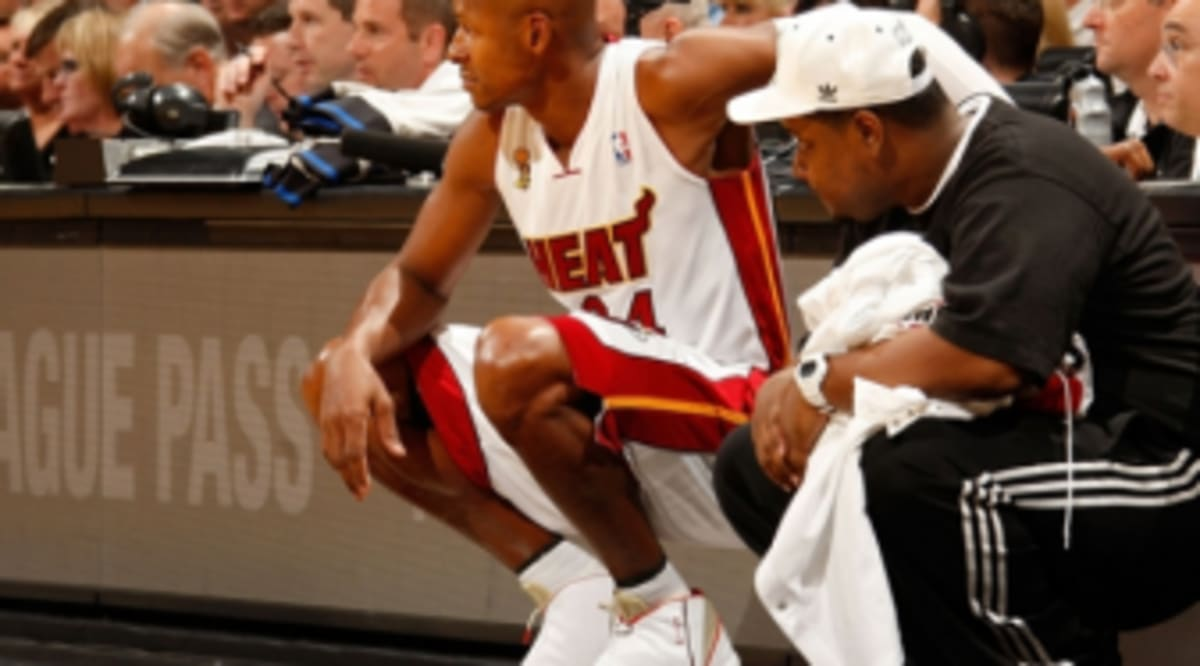 cheap for discount b426a 48cdb Sneaker Watch    Ray Allen Makes Heat Debut In Air Jordan XVI PE. Among the  several storylines playing out last night in Miami, Ray Allen made his ...