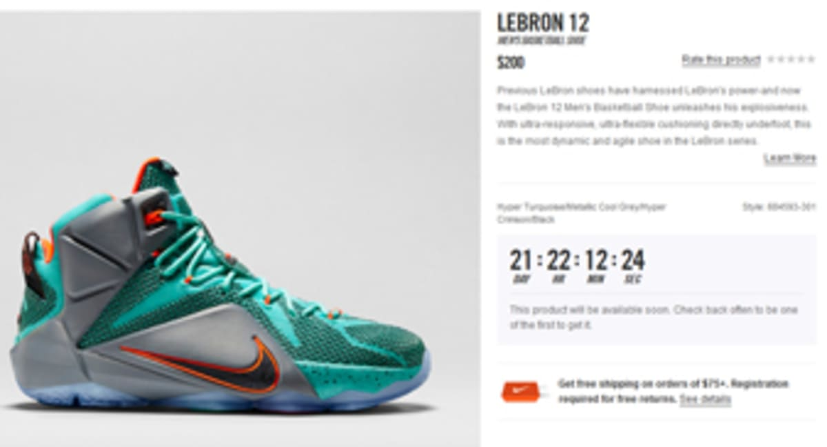 the latest c90d6 4e7f2 The Countdown Has Begun For The Nike LeBron 12   Sole Collector