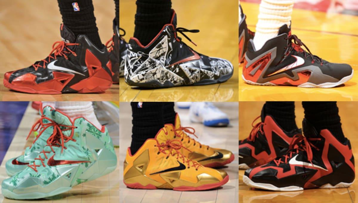 f95e3ff5ac8 All Of The Times LeBron James Wore The Nike LeBron 11 This Season ...