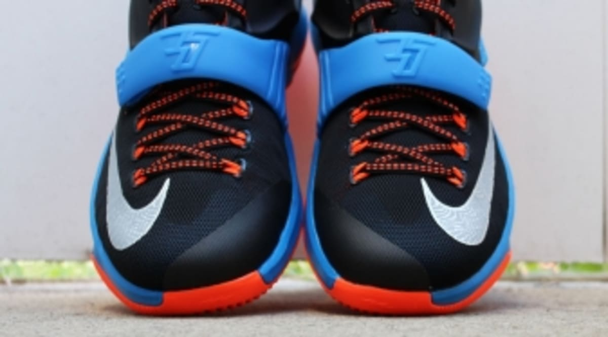 best website 352cb d0e5b Nike KD 7  OKC Away  in Detail   New Release Date   Sole Collector