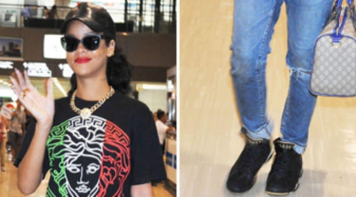 new product 0dfc0 c7fe1  SoleWatch  Rihanna Wears Air Jordan 7  Golden Moments