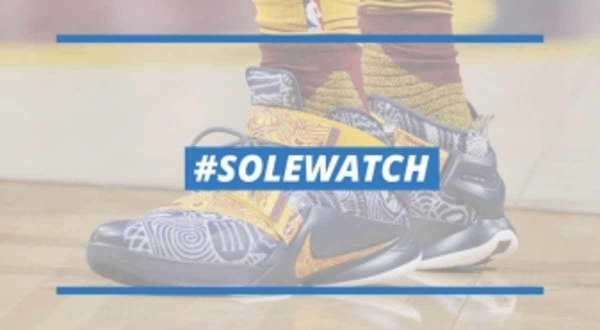 online store 3421e aa731  SoleWatch  LeBron James Debuts  Freegums  Nike Soldier 9 PE   Sole  Collector