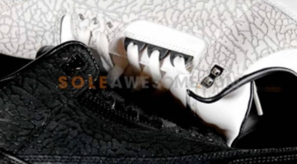 official photos 4cb3e 4e1e6 Air Jordan Retro 3 Flip - Black   White Comparison Photos   Sole Collector