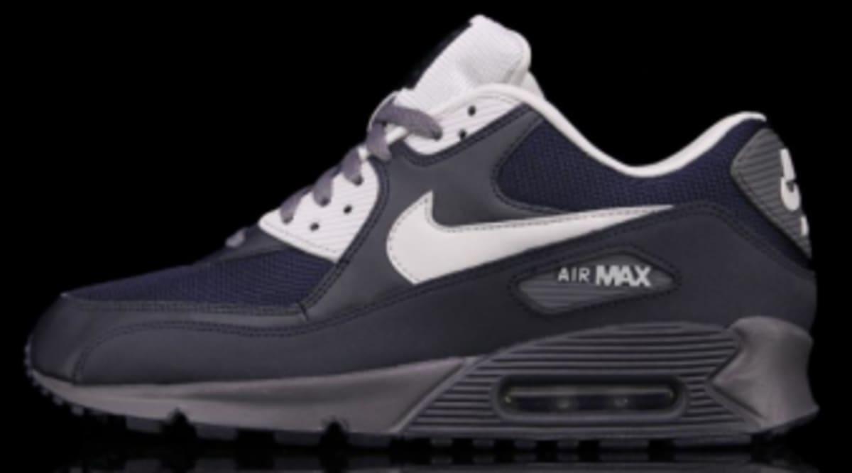 sports shoes 5a9b9 634de Nike Air Max 90 - Dark Obsidian   Neutral Grey   Dark Grey   Sole Collector