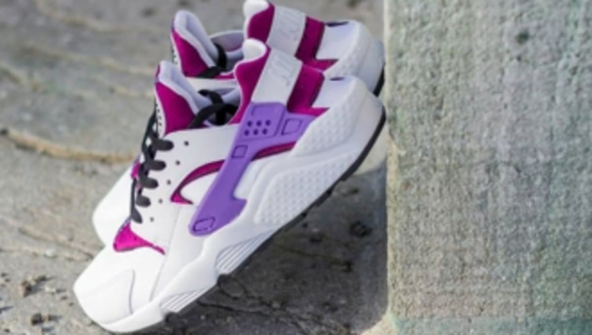 watch 3f0be 146ad Nike WMNS Air Huarache - White Black-Bright Magenta   Sole Collector