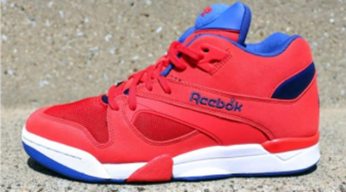 49fa952a3e70 Reebok Court Victory Pump - Red Royal Blue