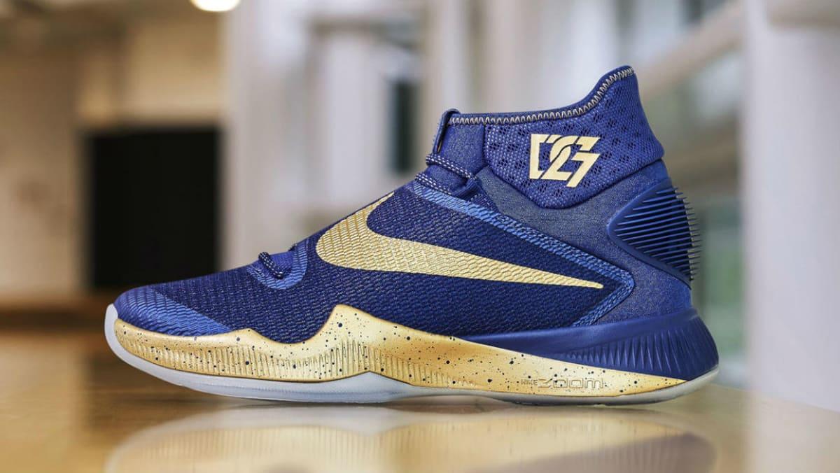 Draymond Green S Blue Gold Nike Hyperrev 2016 Finals Pe