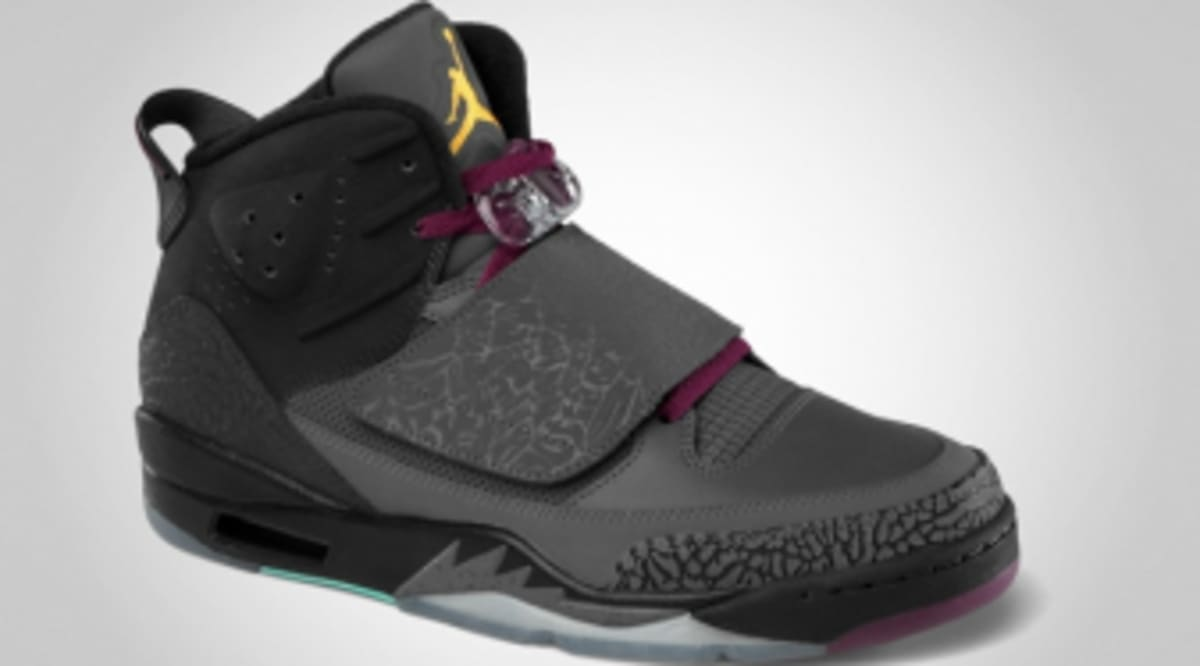 sports shoes 8fd24 060e3 Jordan Son Of Mars - Dark Grey University Gold-Bordeaux-Cool Mint -  Official Images   Sole Collector