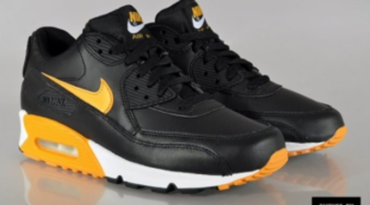 hot sale online 99894 31090 Nike Air Max 90 Essential - Black Canyon Gold-White   Sole Collector
