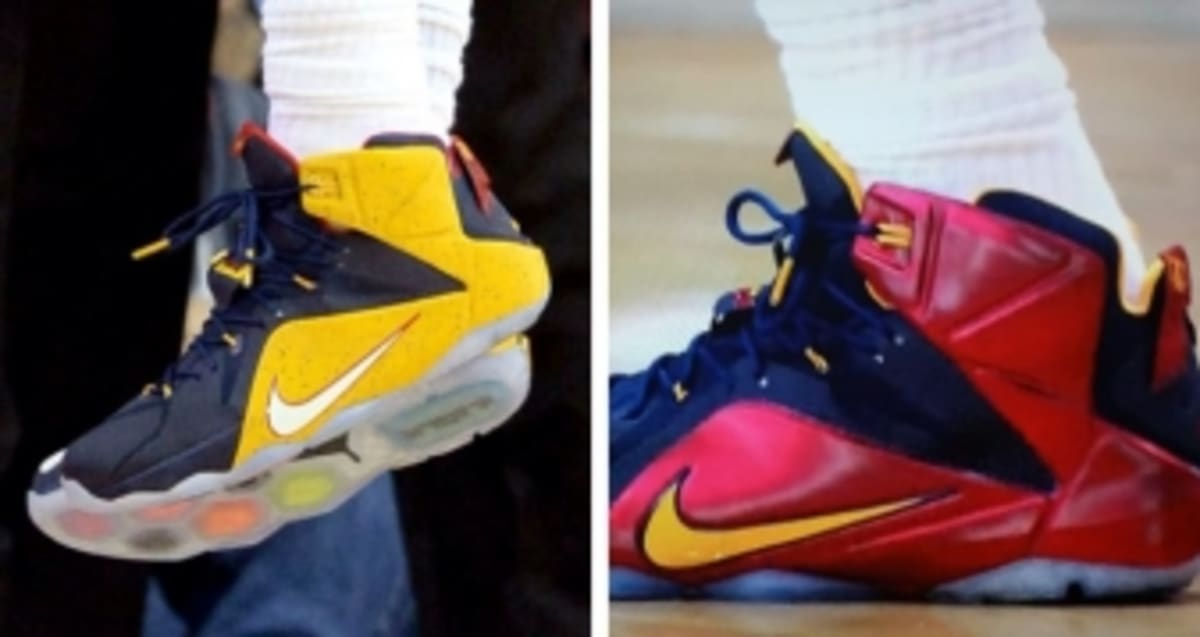 premium selection 3ccee d90e1 LeBron James Makes Cleveland Debut in Two New Nike LeBron 12 PEs