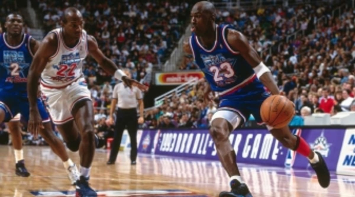 75e970dfa4426b Remembering When MJ Wore  Aqua  Air Jordan 8s in the 1993 All-Star Game