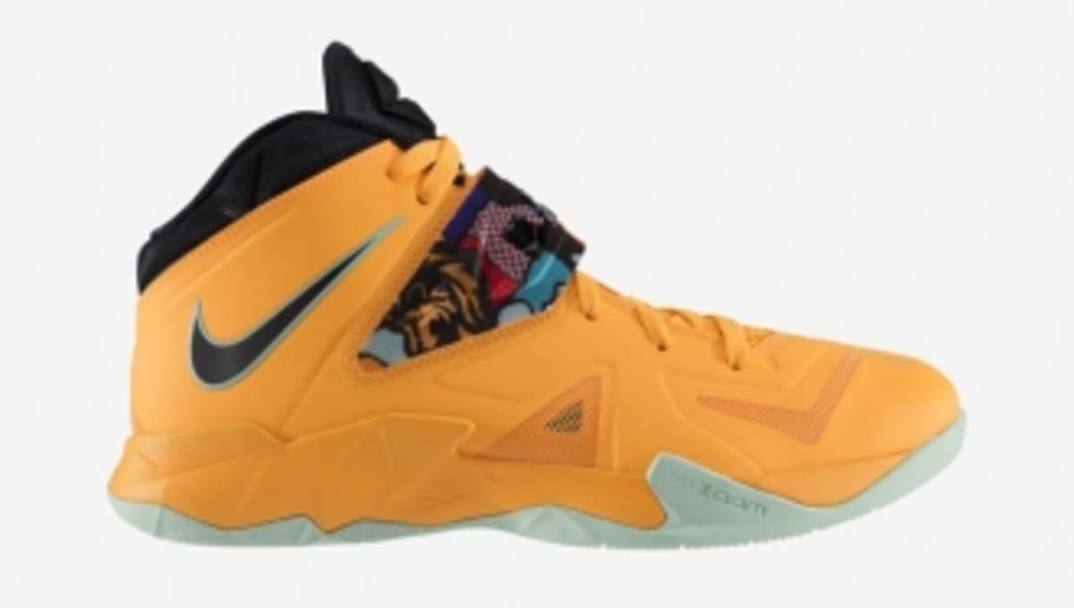 9f9496f204f Nike LeBron Zoom Soldier VII in Laser Orange   Black   Court Purple   Gamma  Blue